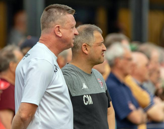 Witton Albion's management team Gary Martindale, left, and Carl Macauley. Picture: Karl Brooks Photography