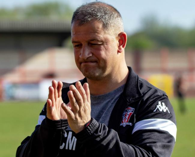 Carl Macauley has agreed to an extension on his contract as Witton Albion's manager until the end of next season. Gary Martindale, his assistant, stays too. Picture: Karl Brooks Photography