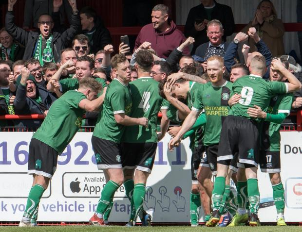 Northwich Guardian: 1874 Northwich earned a reward for taking the game to their opponents after beating City of Liverpool in the Macron Cup final on Saturday. Picture: Ian Dutton