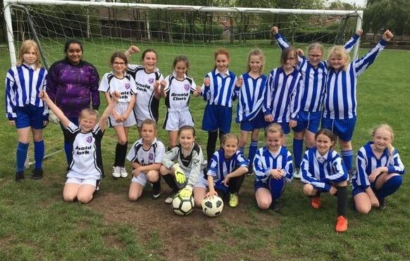 Girls from Weaverham Primary Academy and Oak View