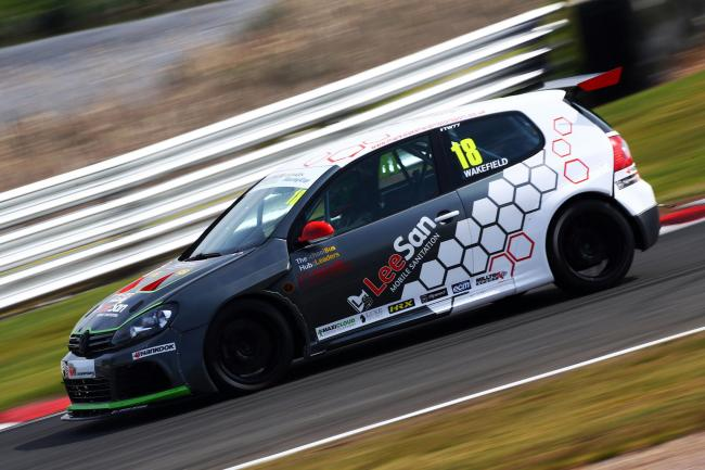 Mark Wakefield put behind him the disappointment of failing to finish race one at Oulton Park last month he recovered to take fourth in the second Volkswagen Racing Cup sprint. Picture: Matt Sayle Photography