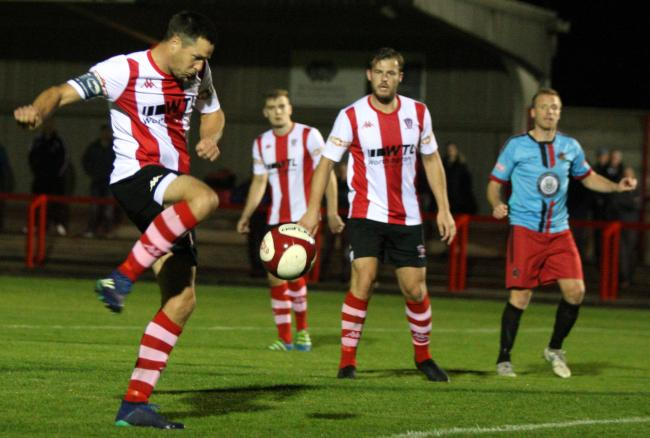 Captain Rob Hopley and his Witton Albion teammates now know the identity of their rivals in the Northern Premier League's Premier Division for the 2019-2020 season. Picture: Keith Clayton