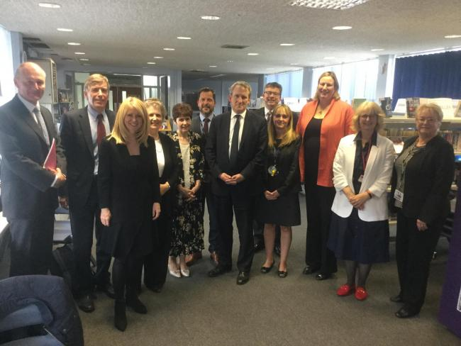 Esther had a meeting with Damian Hinds to discuss education in Cheshire