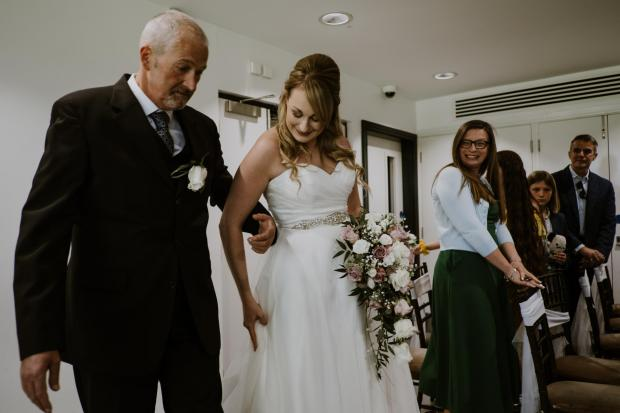 Northwich Guardian: John with his daughter on her wedding day