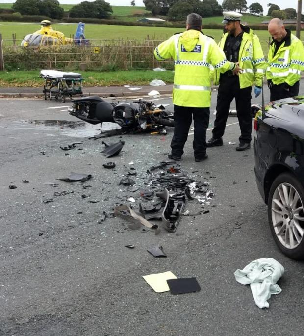 Northwich Guardian: The scene after the crash