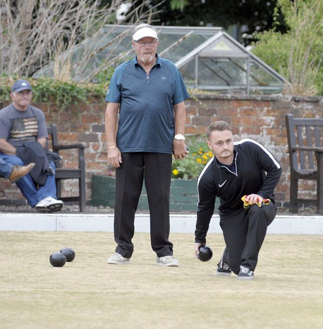 Matt Hamman, right, is one of six players from Castle to qualify for the Cheshire County Bowling Association's Senior Merit finals day at Winnington Park Recreation Club next month