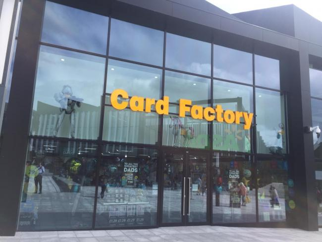 Card Factory has opened today at Barons Quay