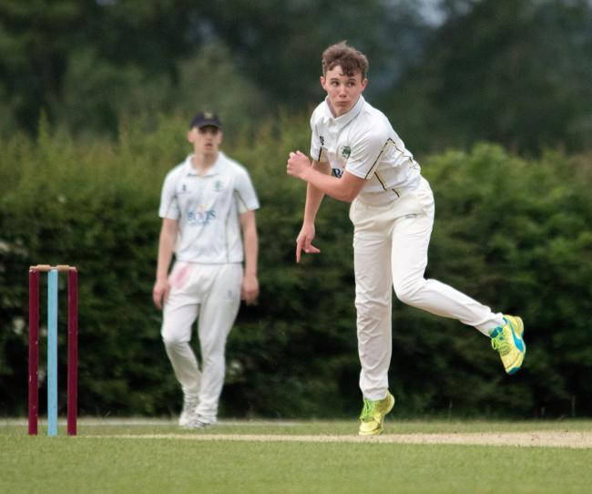 Left-arm slow bowler James Hodkinson took four wickets for Oakmere when they had the better of a draw with Runcorn in Cheshire League Division One last weekend. Picture: Robert Hardley