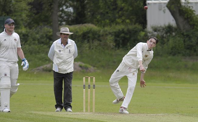 Andrew Dufty took three wickets for Oulton Park, and was at the crease when the visitors resisted late pressure from their opponents, during a draw with Widnes in the Cheshire County League's top-flight last weekend