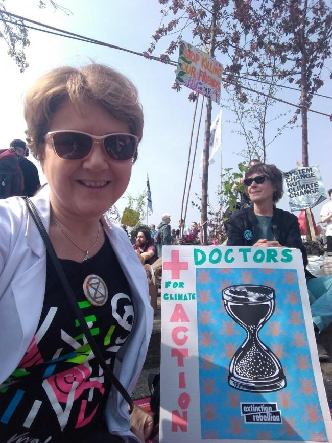 Winsford GP Dr Kathy Fallon, who took part in the last XR protest in London, is urging people to take action.