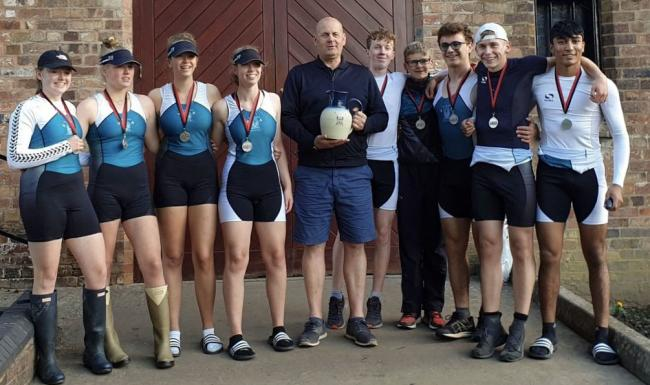 A mixed eight from The Grange School had reason to celebrate after winning the Severn Challenge Cup during Bridgnorth Regatta last weekend - one of 11 victories on a 500m course on the River Severn